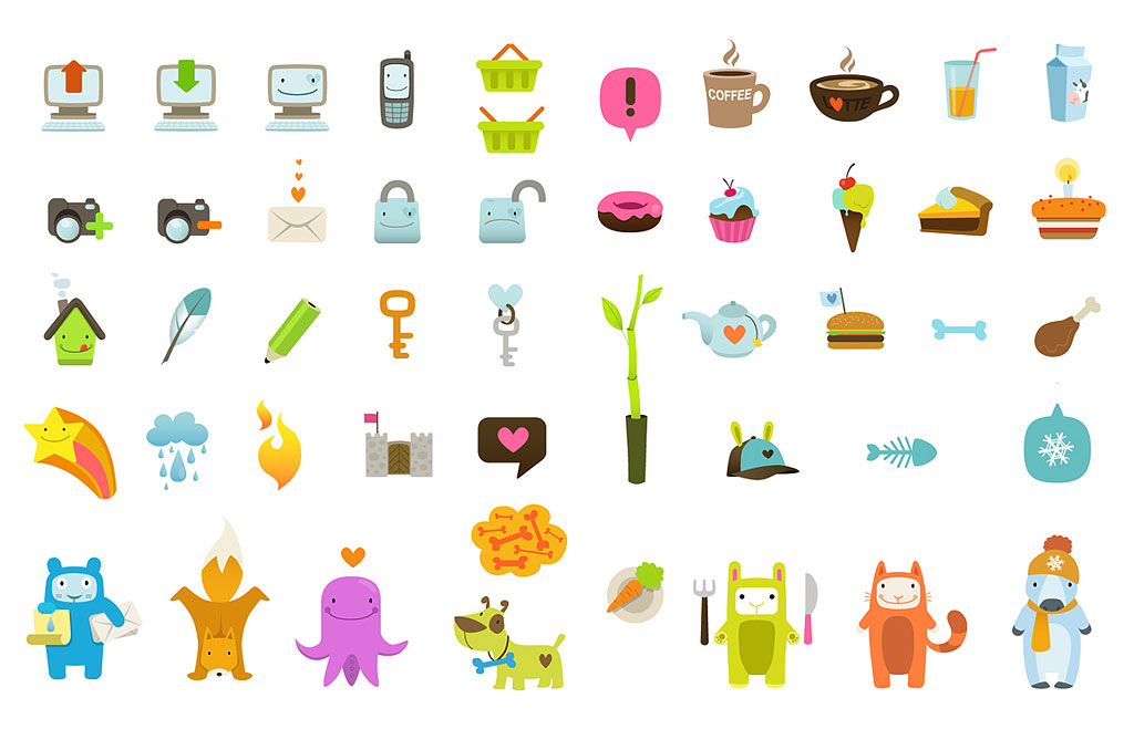 ultra cute icon set mirjami manninen finnish illustrator