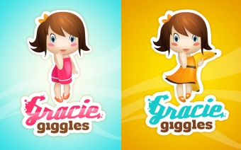 Gracie Giggles Illustration