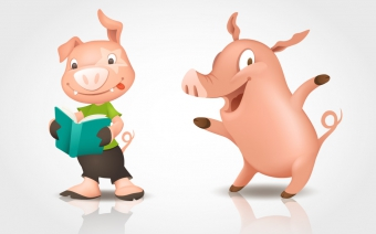 Pigs character Illustration
