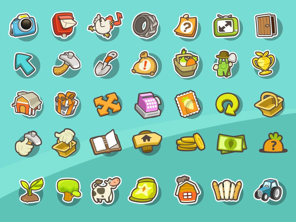 Free SVG and PNG icons for your games or apps