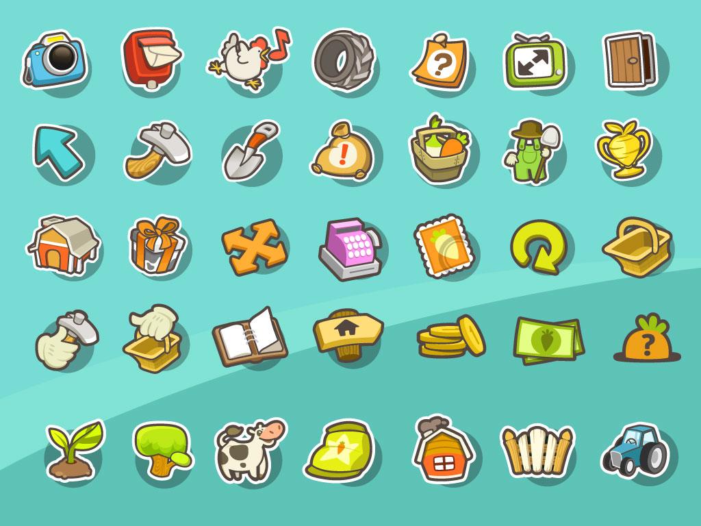 Game Icon Set Mirjami Manninen Finnish Illustrator