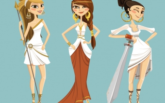 Game Characters Greek themed, girls
