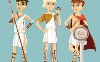 Game Greek characters, boys