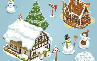 Online Game Christmas items, first set