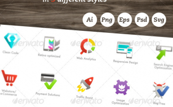 Vector SEO Webmaster Icons